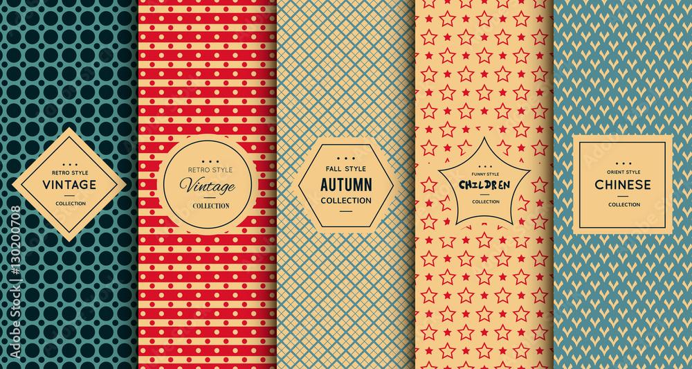 Fototapety, obrazy: Retro vintage seamless pattern