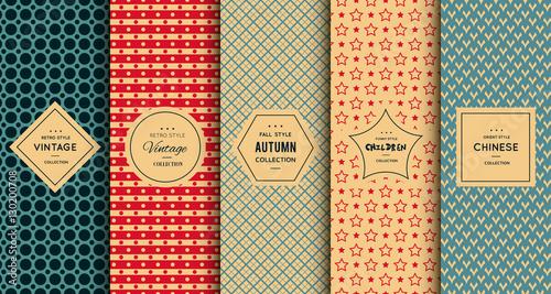 Obraz Retro vintage seamless pattern - fototapety do salonu