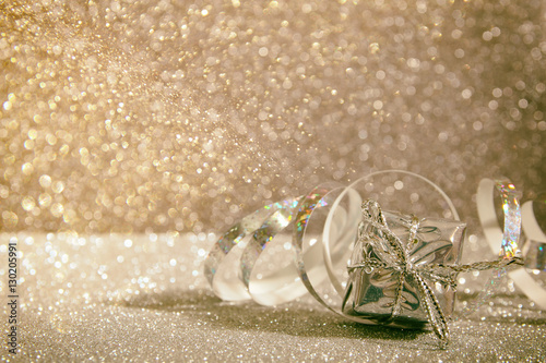 Foto op Canvas Bar Abstract image of christmas festive decorations