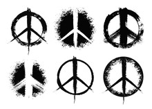 Pacifist Peace Symbols Set Pai...