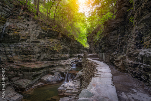 Foto op Aluminium Oranje Watkins Glen Gorge Trail