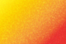 Orange Brick Pixel Mosaic Abst...