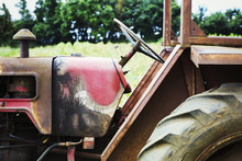 Tractor In A Field.