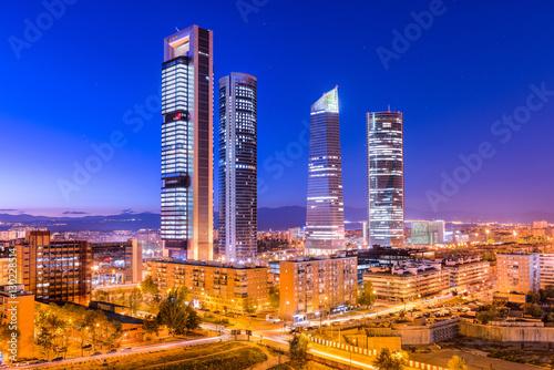 Fotografie, Obraz  Madrid, Spain skyline in the financial district.