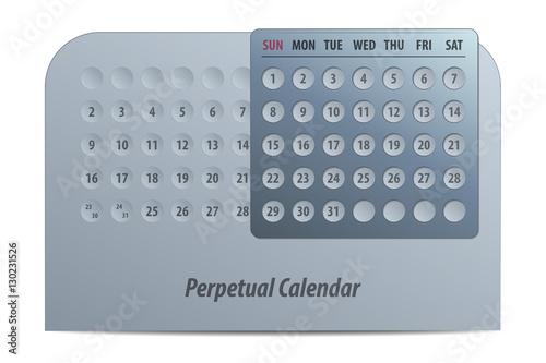 Fotografia  Perpetual Calendar