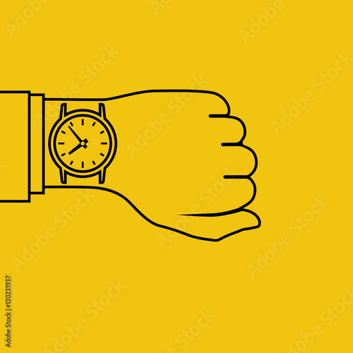 Fotografie, Tablou  Wristwatch on hand, minimal