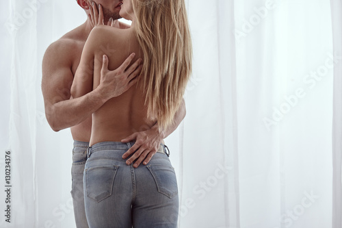 plakat Erotic couple embracing each other