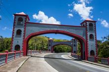 Twin Stone Arches In The Spanish Bridge, Umatac, Guam, US Territory, Central Pacific