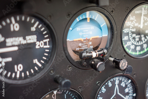Türaufkleber Hubschrauber Helicopter Attitude Indicator Gauge