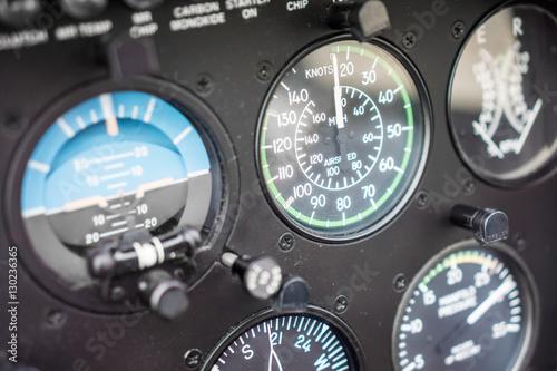 Türaufkleber Hubschrauber Helicopter Airspeed Indicator Gauge