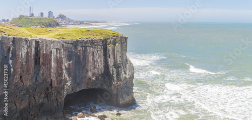 Fotografie, Obraz  Cave at cliffs in Torres beach