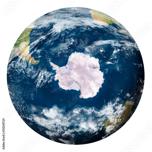 Planet Earth with clouds, Antartide - Pianeta Terra con nuvole, Antartide