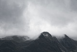 Gloomy mountain landscape. Matte photo processing. - 130242394