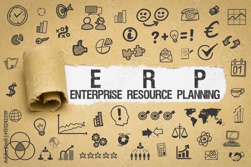 Fotografie, Obraz  ERP / Enterprise Resource Planning