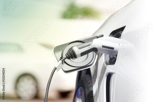 Photo  Charging an electric car, Future of transportation