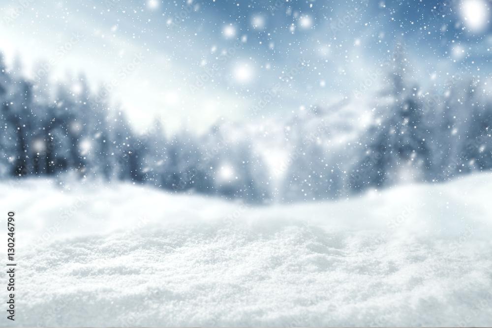 Fototapeta winter space of snow