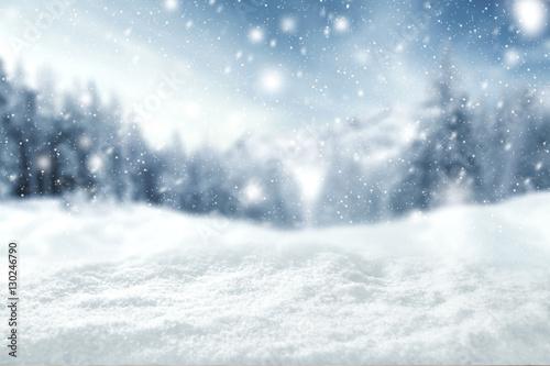 Fototapeta winter space of snow  obraz