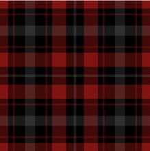 Seamless Red, Black Tartan With White Stripes
