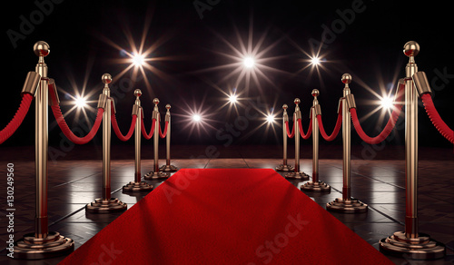 Photo 3d roter Teppich für ein besonderes Event der Vips, Blitzlichtgewitter ist dann garantiert