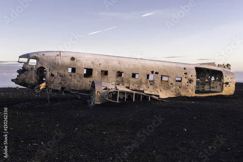 Photo  The abandoned  Airplane on Solheimasandur beach