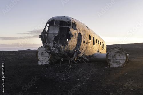 The abandoned  Airplane on Solheimasandur beach Poster