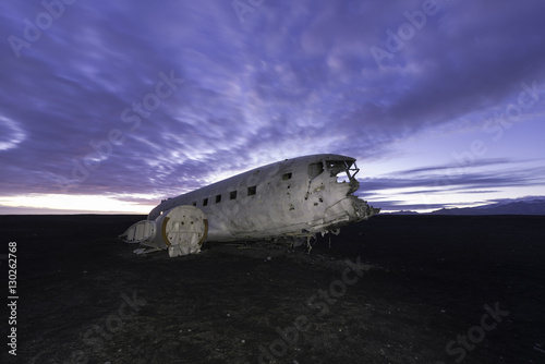 Photo  The abandoned DC-3 Airplane on Solheimasandur beach