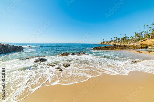 rocks and sand in Laguna Beach