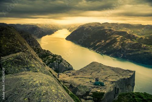 Printed kitchen splashbacks Khaki Mountainous range in Norway