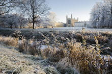 The Backs, King's College Chapel In Winter, Cambridge, Cambridgeshire