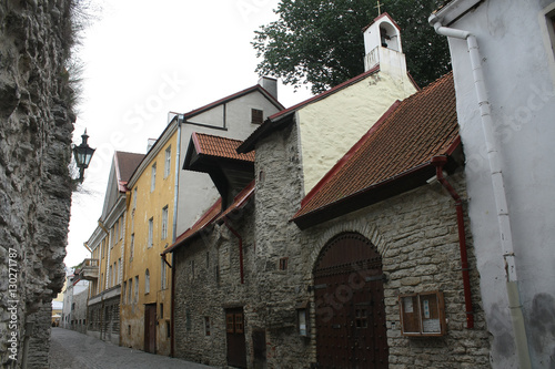 Photo  Saint Olaf's church, Laboratooriumi street. Tallinn,Estonia