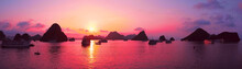 Pink Sky, Sunset. Panorama Of ...