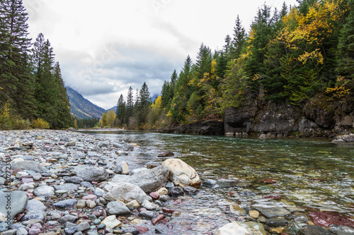 Printed kitchen splashbacks River pristine glacial river flow