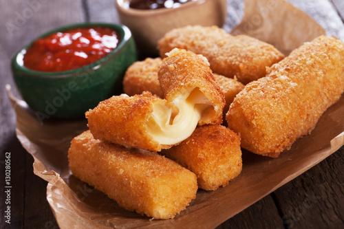 Fototapeta Breaded mozzarella sticks obraz