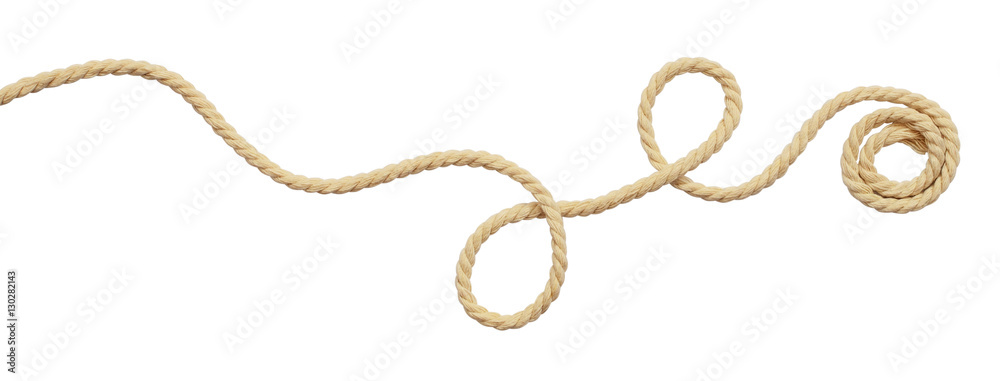 Fototapety, obrazy: Beige cotton rope curl