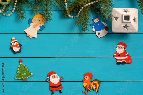 Handmade Wooden Christmas Tree Decorations Santa Angel