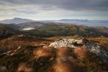 View Towards The Isle Of Skye From Plockton Crags, Plockton, Ross Shire, Scotland