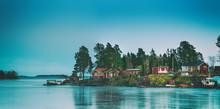 Fisherman Village In Sweden At...