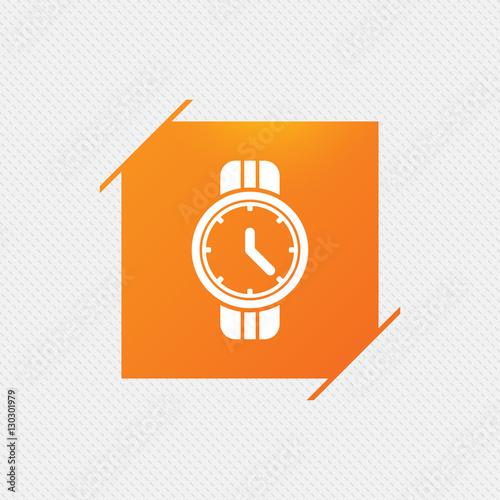 Fotografie, Obraz  Wrist Watch sign icon. Mechanical clock symbol.