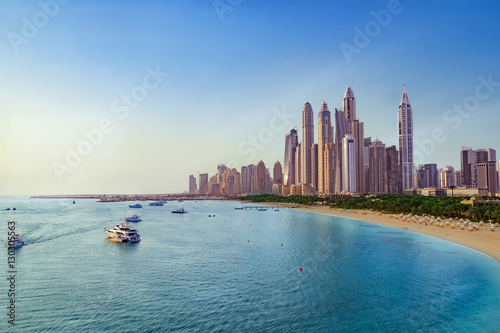 Recess Fitting Dubai Beach and Skyline of Dubai Marina
