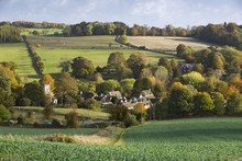 Village In Autumn, Upper Slaughter, Cotswolds, Gloucestershire