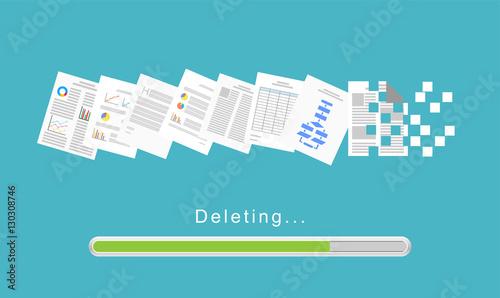 Fotografie, Obraz  Delete files or delete documents process.