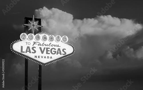 Plakat Witamy w bajecznym znaku Las Vegas w Las Vegas