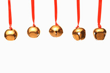 Five Jingle Bells Hanging From...
