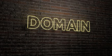 DOMAIN -Realistic Neon Sign On...