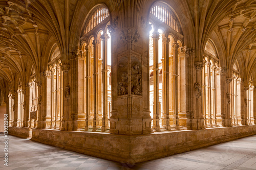 Cloister of Convento de San Esteban in Salamanca, Castile and Leon, Spain