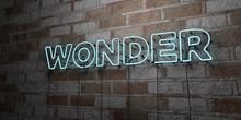 WONDER - Glowing Neon Sign On ...