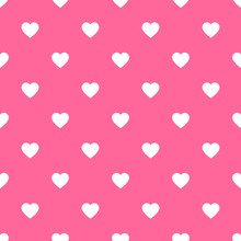 Seamless Hearts Pattern Background Pink
