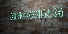KNOWING - Glowing Neon Sign On...