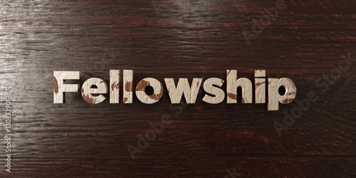 Fotografie, Tablou  Fellowship - grungy wooden headline on Maple  - 3D rendered royalty free stock image
