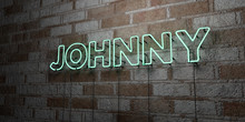 JOHNNY - Glowing Neon Sign On ...